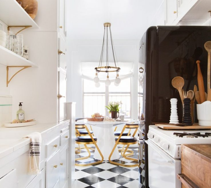 Endearing Tile Floor Designs For Kitchens Of Designer And Homeowner Brady Ed Peel And Stick
