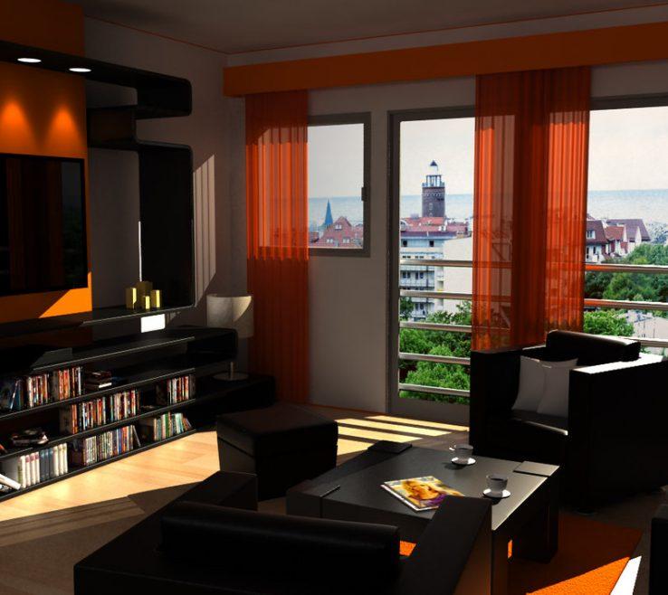 Enthralling Burnt Orange And Brown Living Room Ideas Of Image Of Black