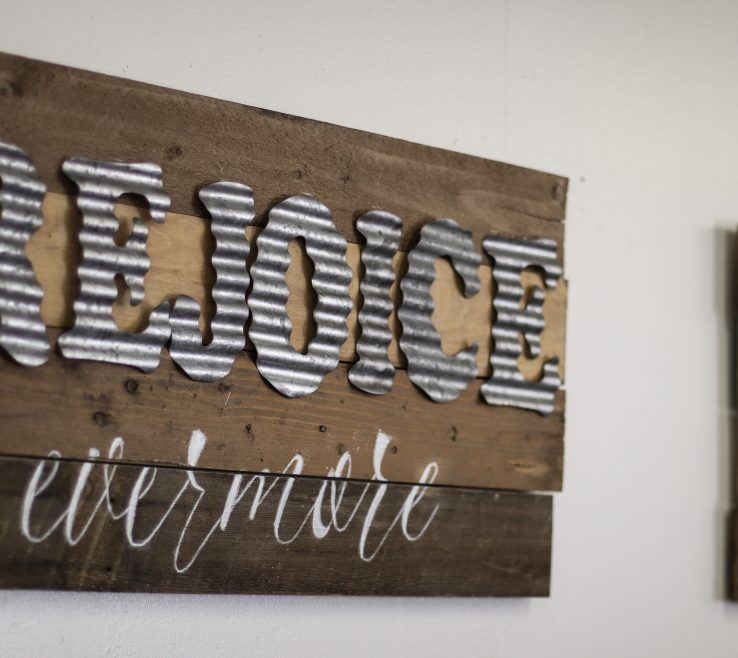 Entrancing Metal Craft Ideas Of Diy Wood Sign With Galvanized Letters