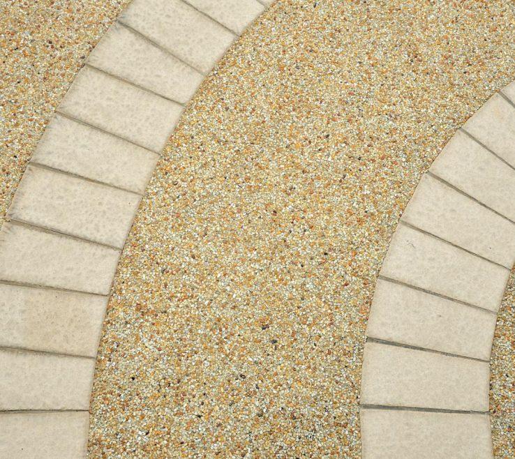 Entrancing Outdoor Floor Design Of Pebble Patios