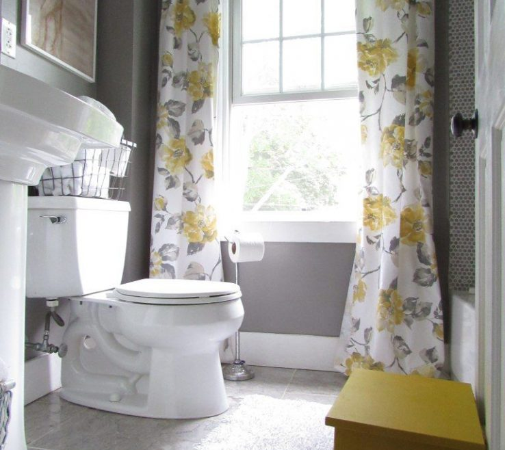 Entrancing Yellow Bathrooms Of Really Cute Gray And Bathroom, With Vintage Style