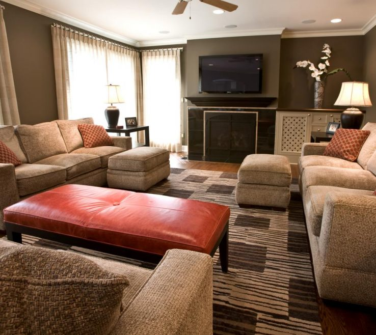 Exquisite Burnt Orange And Brown Living Room Ideas Of With Accents Collection Of Full Size