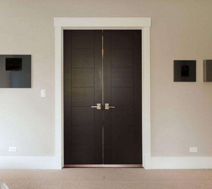 Exquisite Interior Contemporary Doors Of Custom Modern Wood Double Door