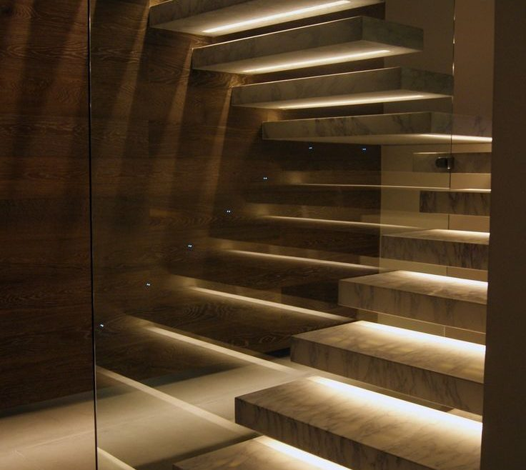 Exquisite Modern Staircase Lighting Of Remarkable Winsome Brown Stair Railings And Glass