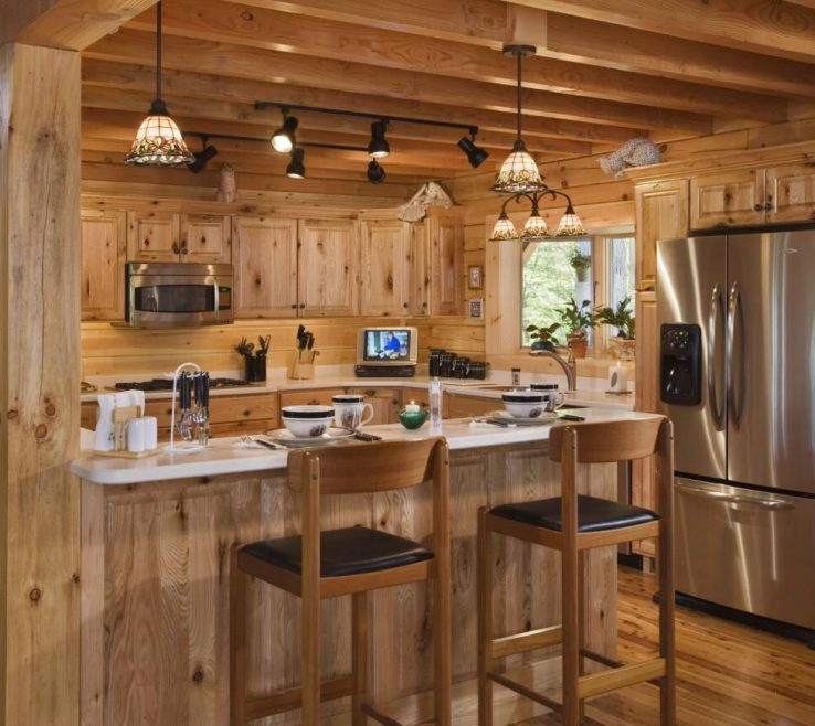 Exquisite Rustic Interior Lighting Of Track Kitchen