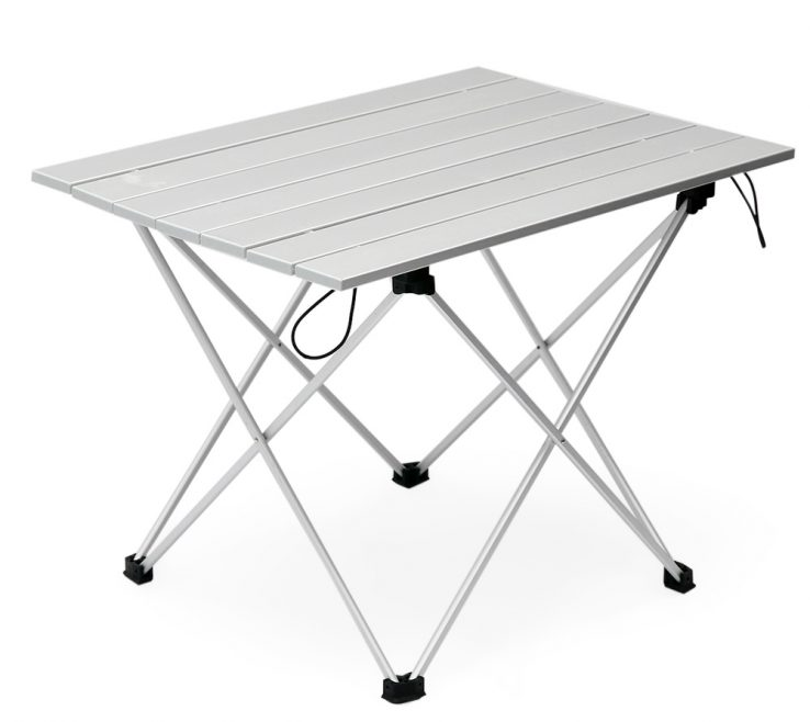 Exquisite Table Collapsible Of Aluminum Folding Camping With Carrying Bag Outdoor
