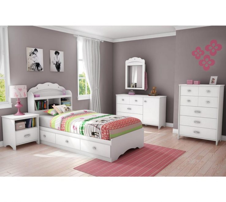 Extraordinary Childrens Storage Beds For Small Rooms Of South Shore Tiara 3 Drawer Pure White Twin Size