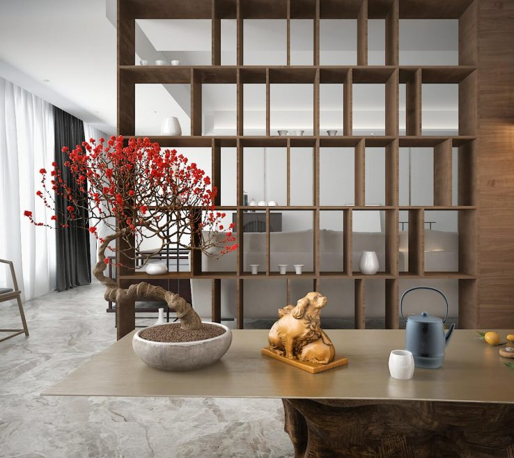 Extraordinary Interior Partitions For Homes Of Statement Bookshelf Does Double Duty As Room