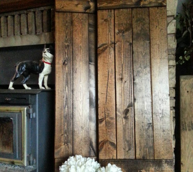Extraordinary Rustic Wood Shutters Of Primitive Handmade E