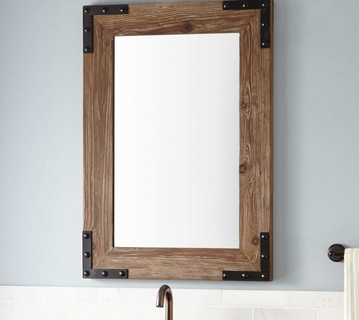 Extraordinary Unique Bathroom Vanity Mirrors Of Image Of: Amazing 60 Wood Framed Mirror