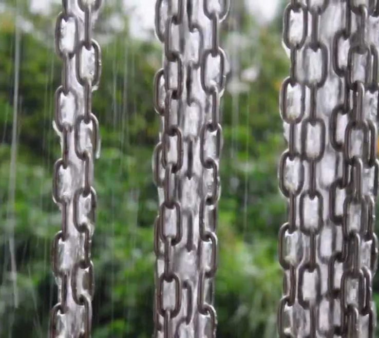 Eye Catching Decorative Downspouts Rain Chains Of Chain