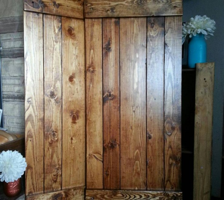 Eye Catching Rustic Wood Shutters Of Shutter Primitive Wooden