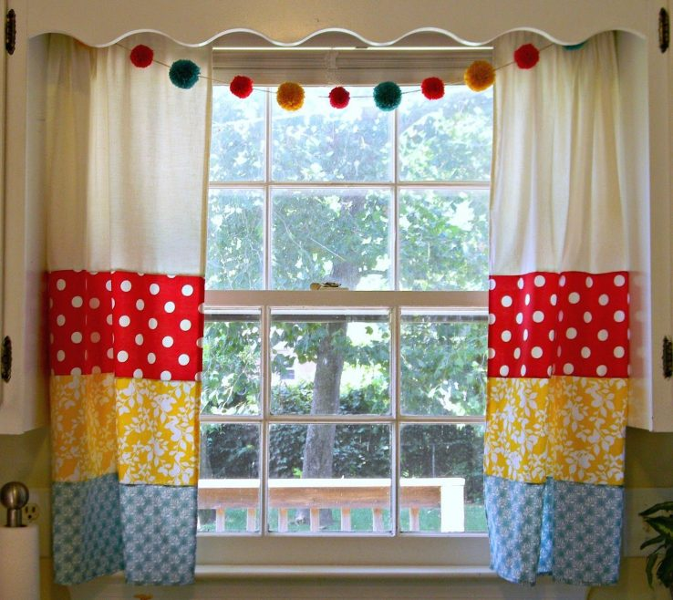 Eye Catching Ual Window Treatments Of Kitchen Curtain Ideas As Well As Cool