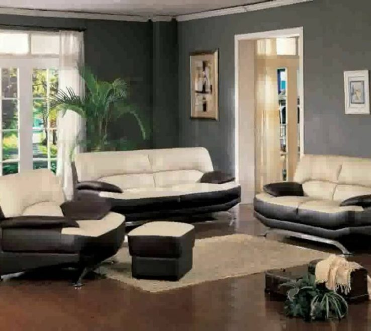 Fascinating Brown Decor Of Living Room Ideas With Leather Furniture