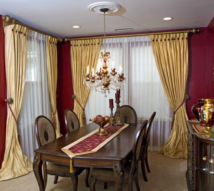 Fascinating Dining Room Window Treatment Ideas Of Formal Treatments