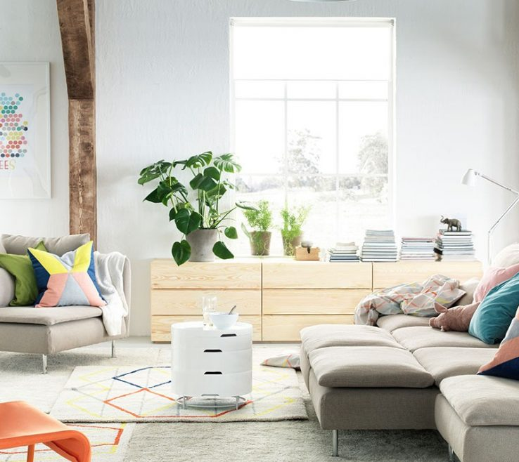 Fascinating Furniture For Small Spaces Living Room Of A Stylish And Space Saving Ikea Soderhamn Sofa