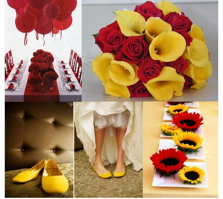 Fascinating Red And Yellow Decor Of For A Wedding Decoration, Do Not Hesitate