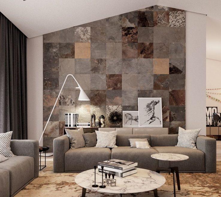 Fascinating Wall Tiles Design For Living Room Of Dddbbbfacfccdb