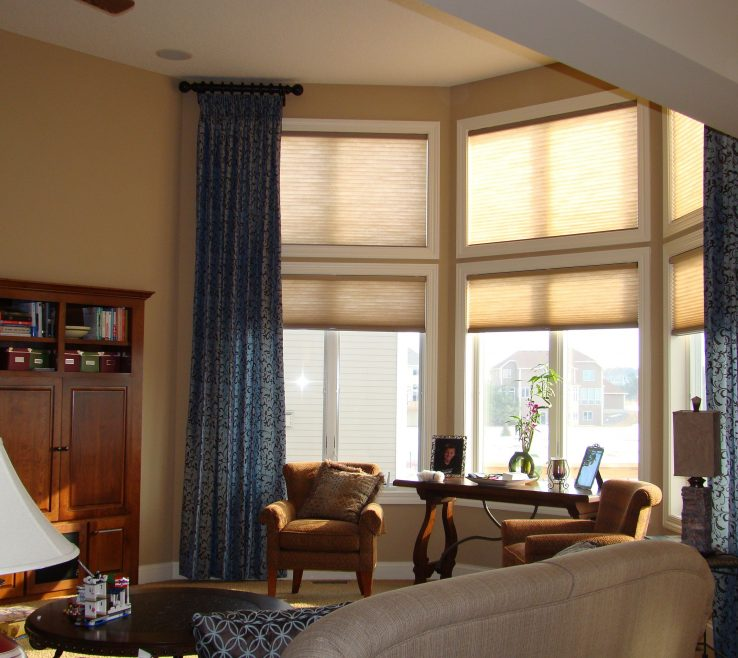 Fascinating Window Treatment Ideas For Living Room Of Charming Large Fresh Double Rod Curtain Decoration