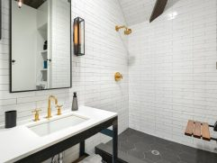 Cool Glass Floor Tile Bathroom