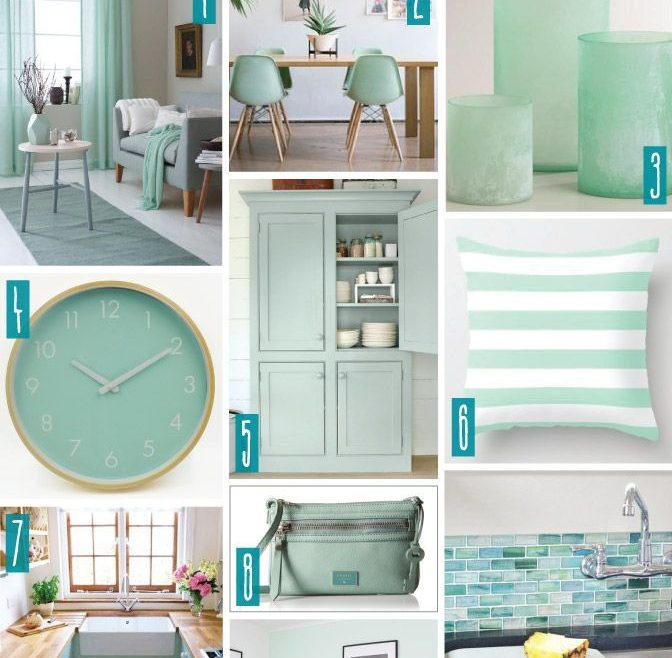 Green And Turquoise Decor Of Color Series; Decorating With Seaglass. Seaglass, Mint,