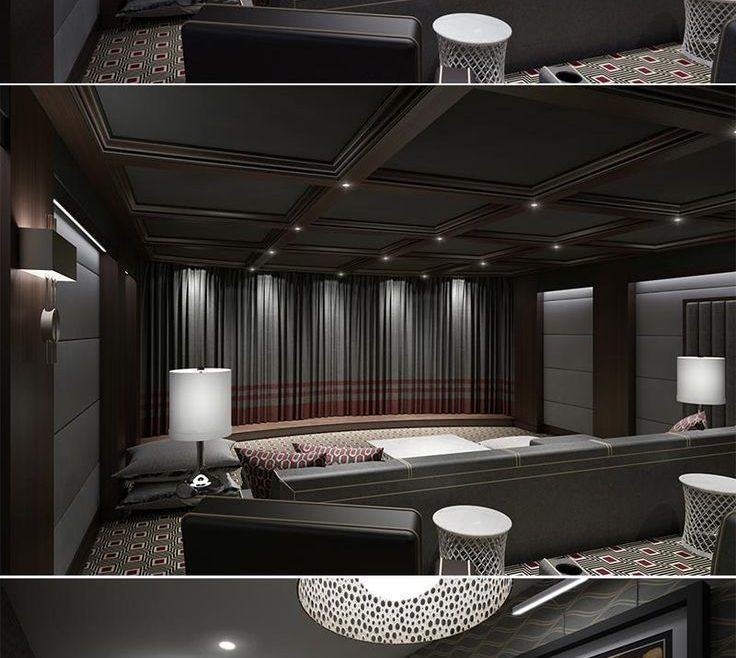 Ideas For Theater Room Of More Below: Diy Home Decorations Basement Home