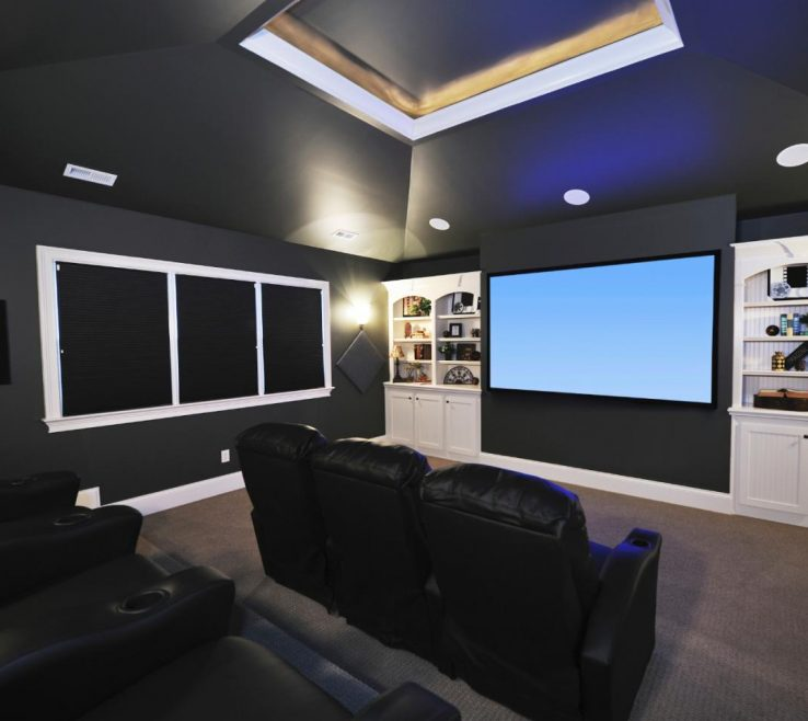 Ideas For Theater Room Of Walls And Doors