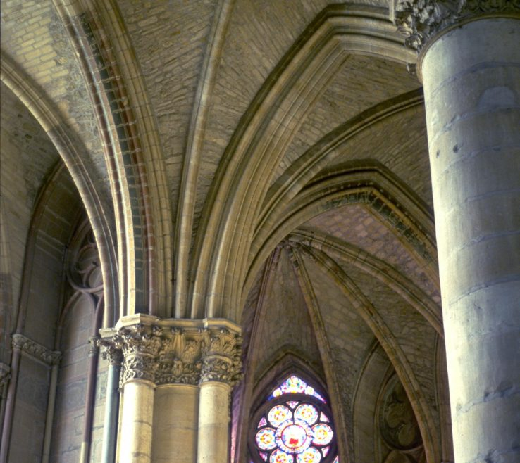 Impressing Interior Pillars Of Art Images For College Teaching: Reims Cathedral:
