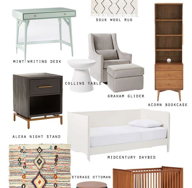 Impressing Mid Century Modern Baby Crib Of West Elm + Pottery Barn Kids And