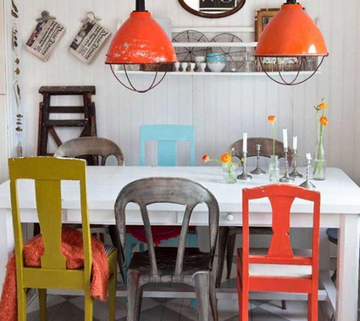 Impressing Vintage Interior Design Of Colorful Dining Room. Source: Inspiration