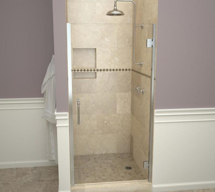 Impressing Wood Shower Door Of Redi Swing 3100v Series 28 9/16 In. W