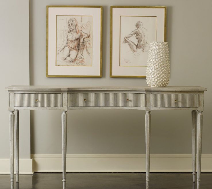 Impressive Contemporary Console Table With Drawers Of Image Of: Modern Tables