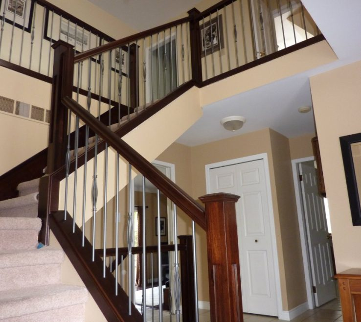 Impressive Indoor Stair Railing Pictures And Ideas Of Image Of Diy