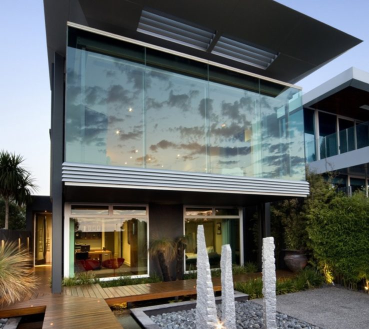 Impressive Modern Es Design Of Elegant Black Facade. Futuristic Home