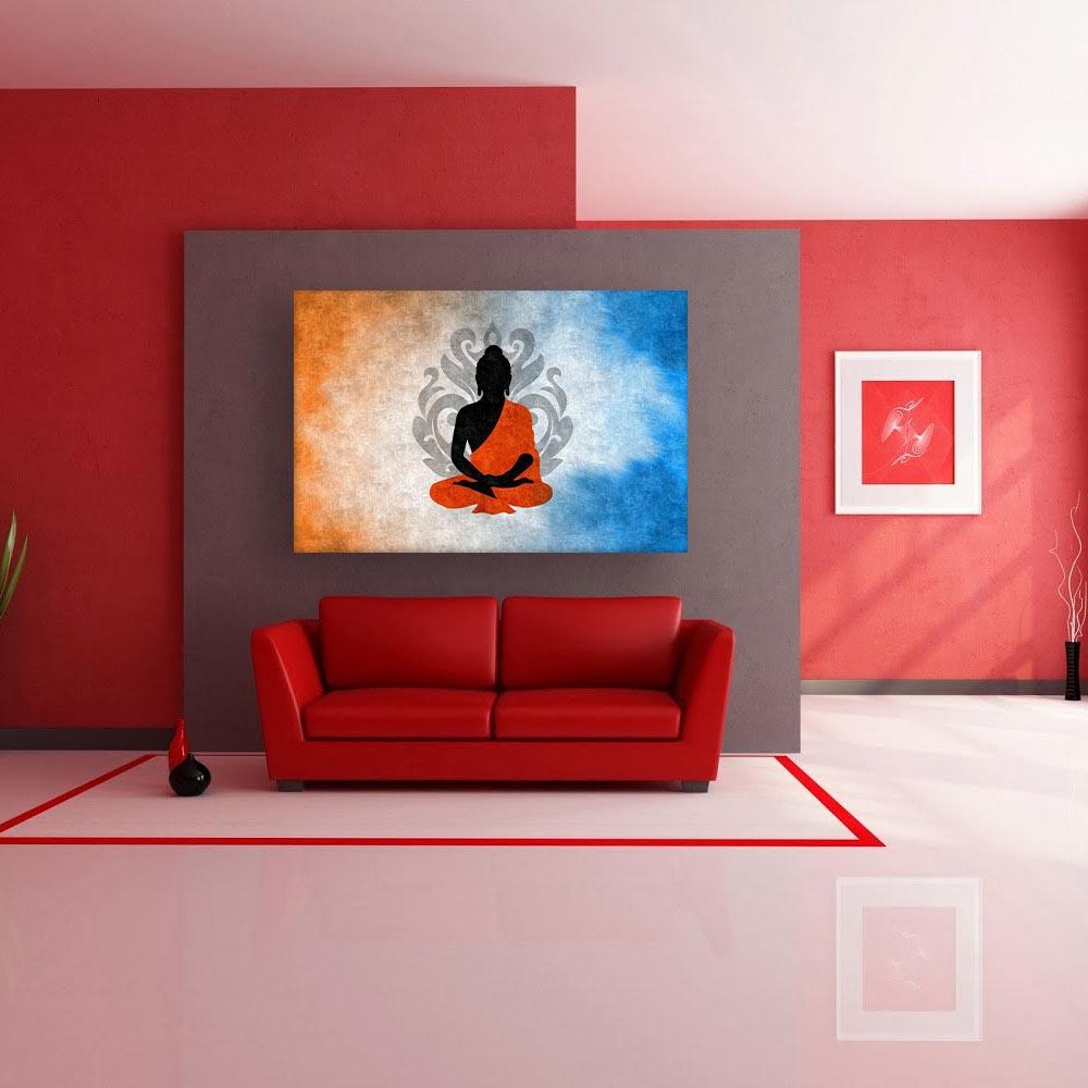 Impressive Modern Wall Painting Of Canvas Beautiful Buddha Art For