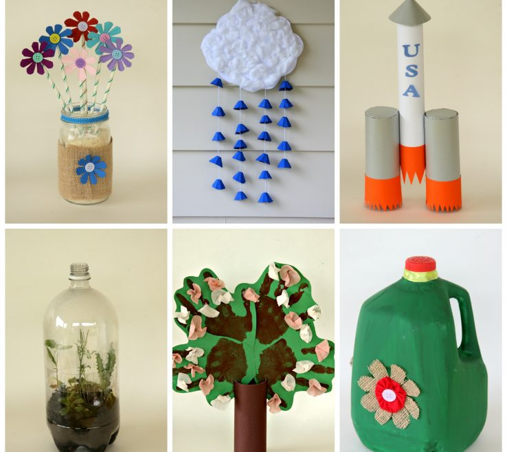 Ing Creative Recycling Ideas Of 6 Kid Friendly Earth Day Crafts Made From
