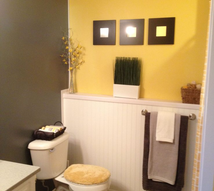 Ing Yellow Bathrooms Of Grey And Bathroom Ideas Guest Bathroom