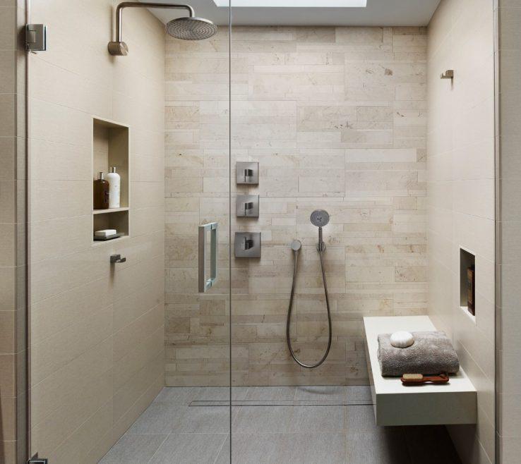Inspiring Best Modern Bathroom Of Design With Beige Tile