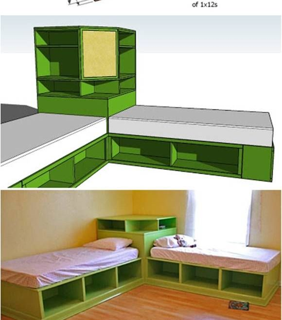 Inspiring Childrens Storage Beds For Small Rooms Of How To Diy Corner Unit The Twin