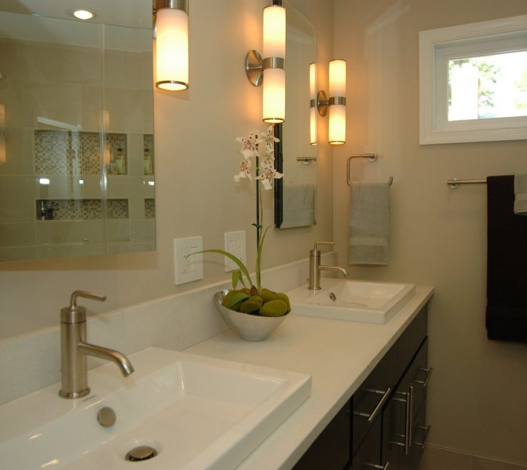 Interior Design For Best Modern Bathroom Of Light Sconces Contemporary Candle Wall Also Very