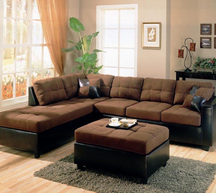 Interior Design For Brown Decor Of Elegant Sofa To Decorating Living Room