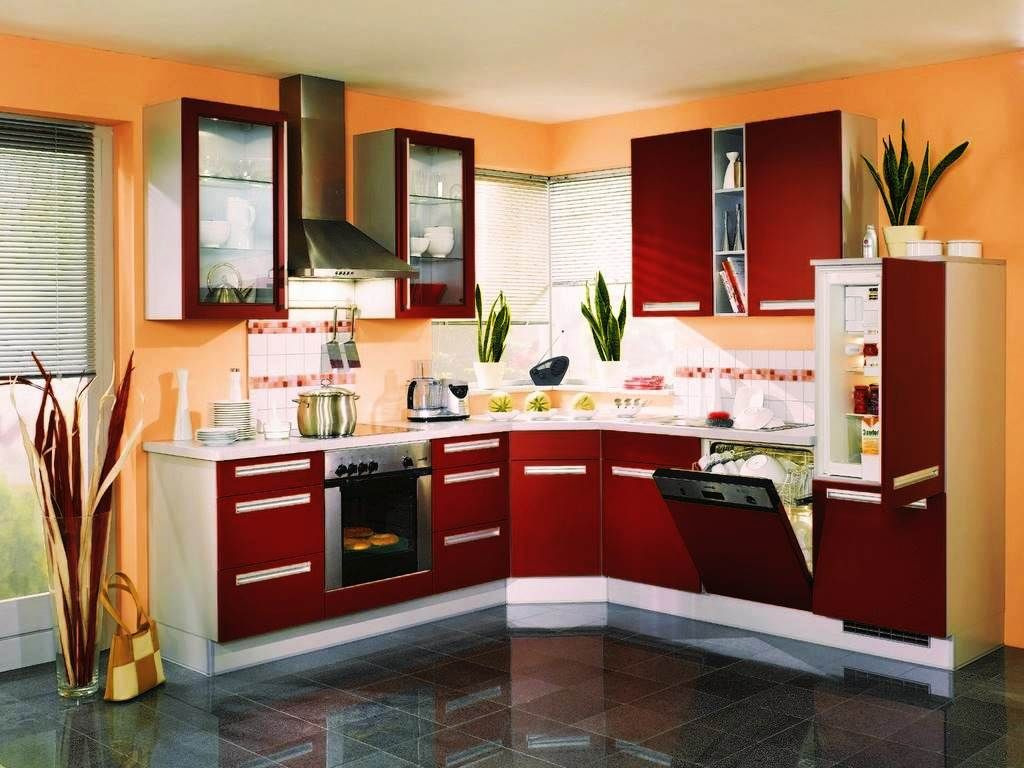 Interior Design For Orange Kitchen S Of Red And White Design Ideas