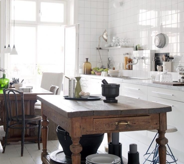 Kitchen Island Alternatives Of Make It Your Style: Using Repurposed Pieces