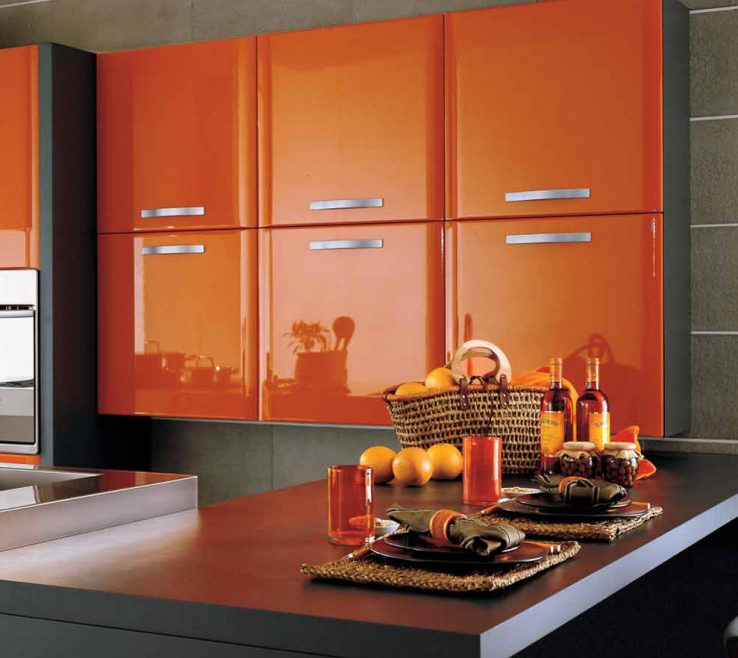 Likeable Orange Kitchen S Of Fascinating Burnt Decoration Ideas Design Green