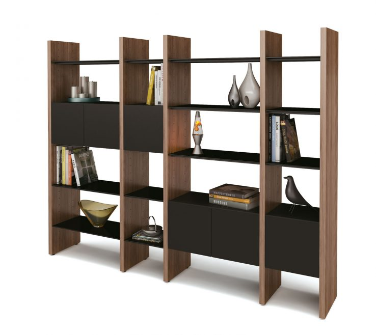 Likeable Unique Shelving Units Of Outstanding Modern With Wooden Divider Brown Accent