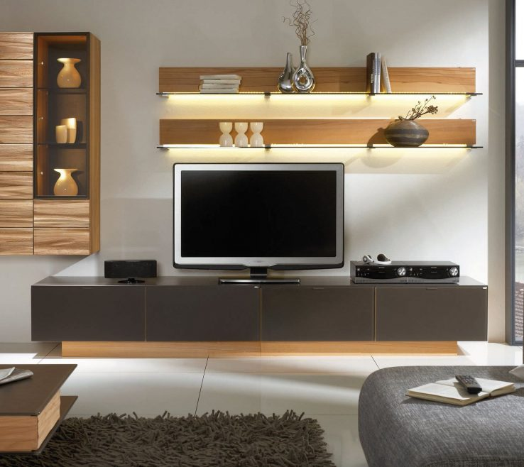 Likeable Wall Unit Designs For Small Living Room Of Awesome White Brown Wood Glass Cool Design