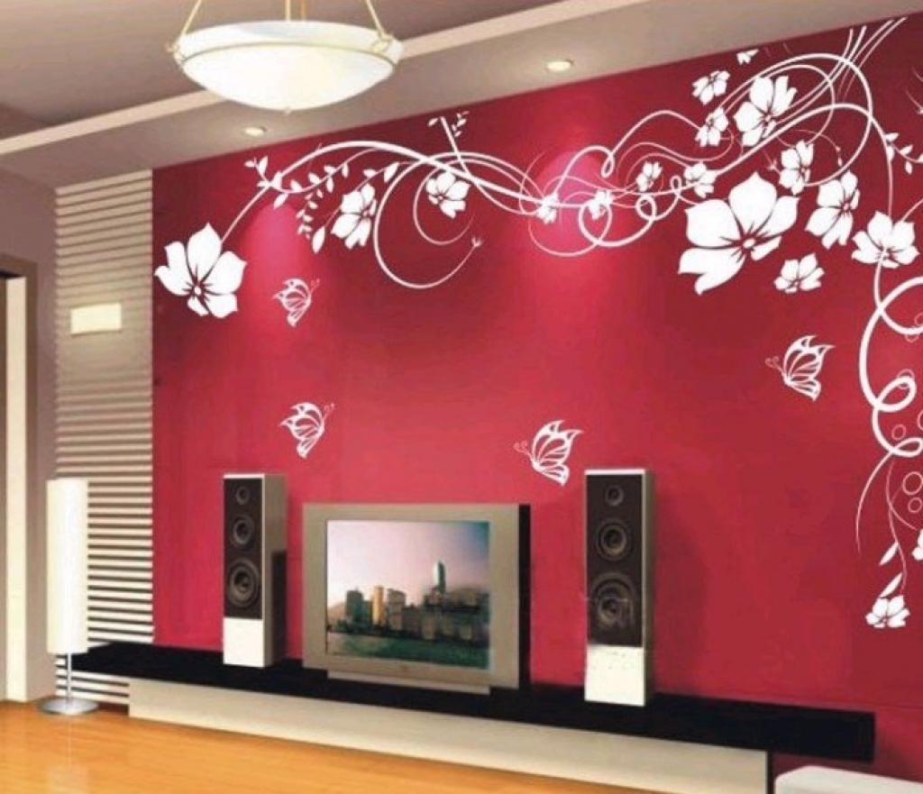 Living Room Wall Paint Designs Of For Painting Design For