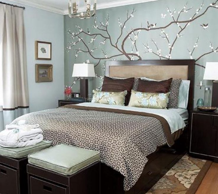 Lovely Brown Decor Of Bedroombedroom Decorating Ideas With Grey Walls Robin