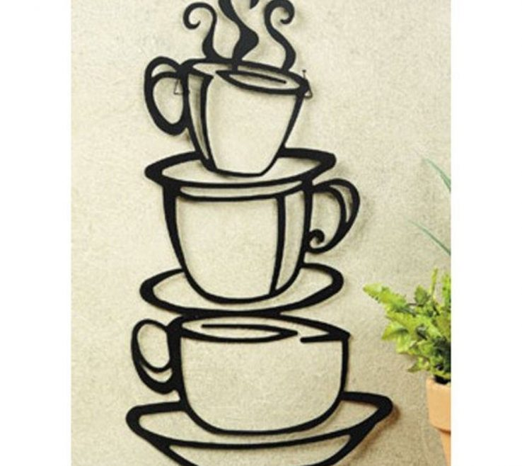 Lovely Coffee Themed Wall Decor Of E Black Cup Design Java Silhouette Art