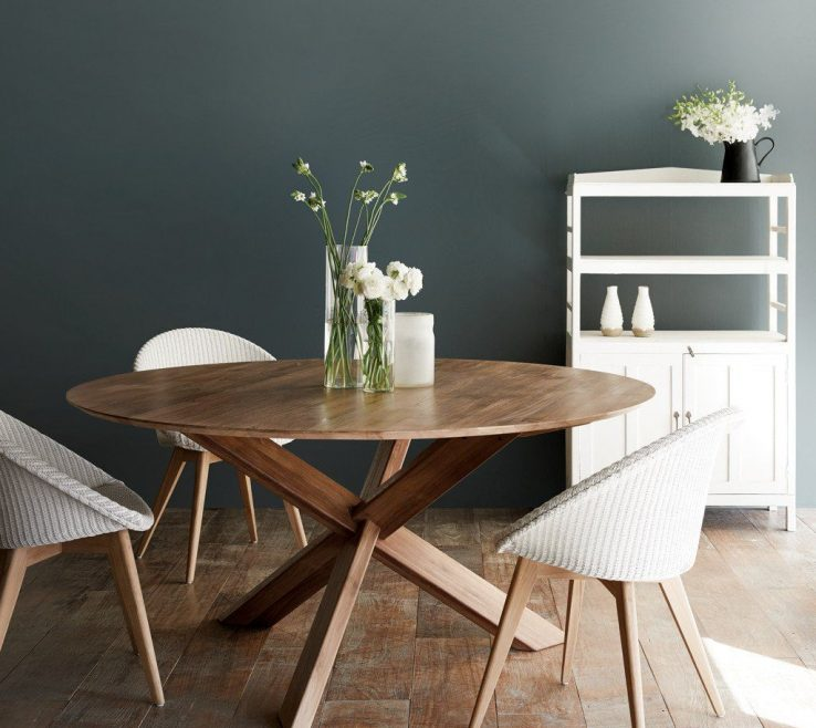 Lovely Dining Room Tables Contemporary Design Of Round Teak Table | Ethnicraft